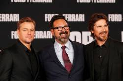 Matt Damon, Christian Bale y el director James Mangold